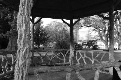 A tiny rotunda in a park