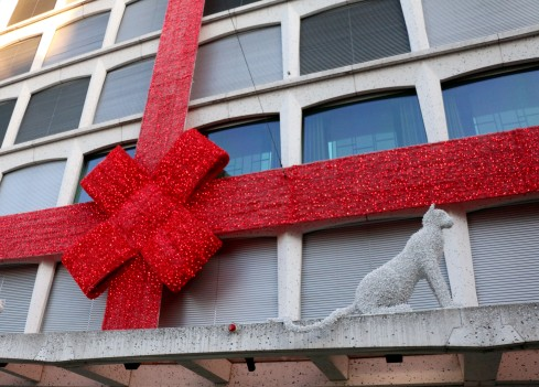 They like to wrap buildings in Geneva (or maybe just Cartier)
