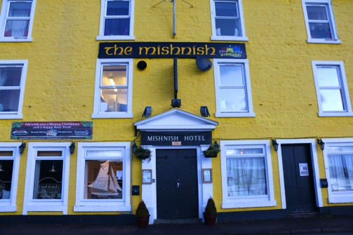 The front of The Mishnish Hotel, Tobermory