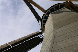 A beautiful windmill inside Keukenhof that you can climb to the top of to overlook the tulip fields