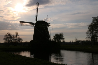 The watermill at sunset