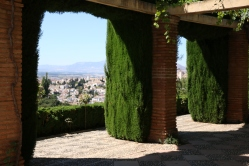 Looking out at the city from the Alhambra