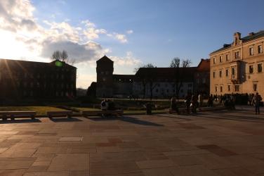 Wawel Castle at sunset