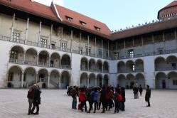 In a courtyard in Wawel Castle
