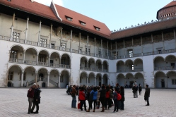 In a courtyard in Wawel Castle