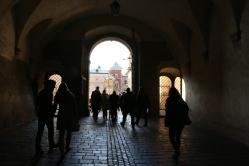A dark corridor in Wawel Castle