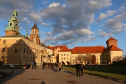 Wawel Castle at sunset